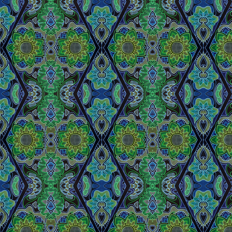 Neon Nights fabric by edsel2084 on Spoonflower - custom fabric