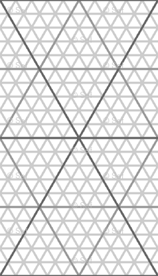 isometric triangle/hexagonal inch graph