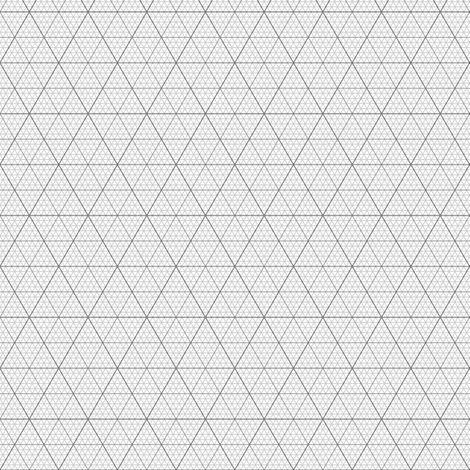 equilateral triangle / hexagonal graph : grey fabric by sef on Spoonflower - custom fabric