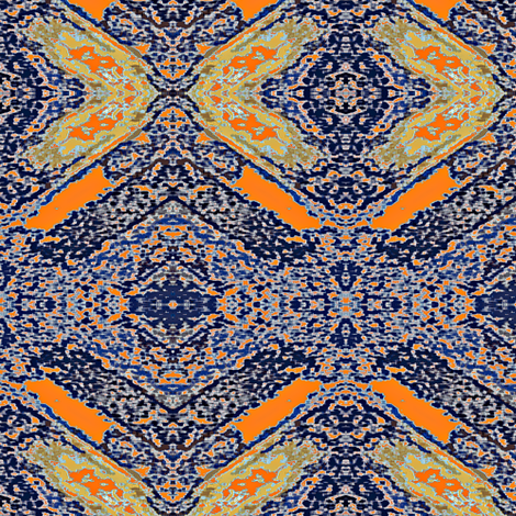 Carpet Bag Blue fabric by susaninparis on Spoonflower - custom fabric