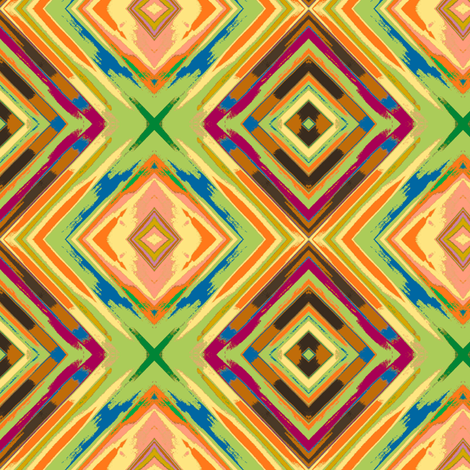 Memories of Old Madras, squared fabric by susaninparis on Spoonflower - custom fabric