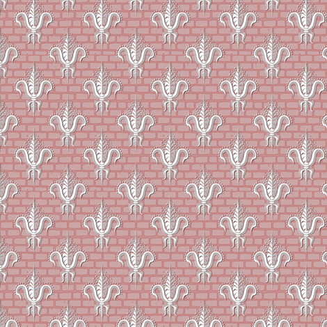 FDL Lipstick Damask fabric by glimmericks on Spoonflower - custom fabric