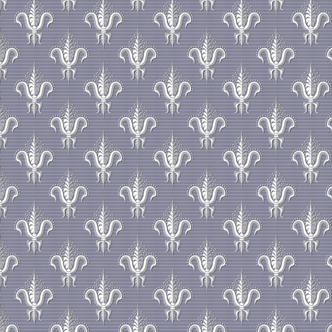 FDL Belgian Lace in Bleu fabric by glimmericks on Spoonflower - custom fabric