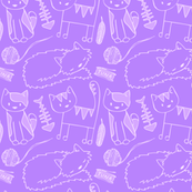Doodlecats Purple