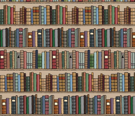 old book smell not included fabric by doodleandhoob on Spoonflower - custom fabric