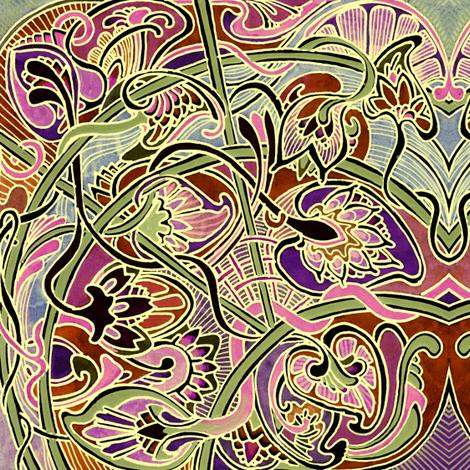 Nouveau Paisley Gardens fabric by edsel2084 on Spoonflower - custom fabric
