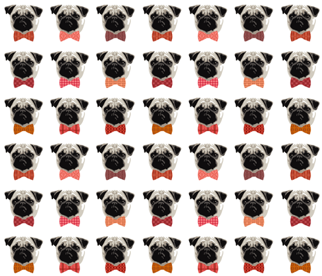 Proud Pug Boys fabric by dianef on Spoonflower - custom fabric