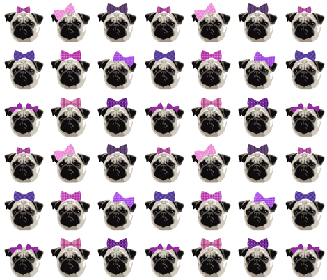 Pretty Pug Girls fabric by dianef on Spoonflower - custom fabric