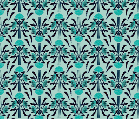 Waratahs are bluer fabric by su_g on Spoonflower - custom fabric