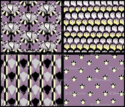 Deco a Go Go 4 in 1 - Dusty Purple, Black, Vanilla
