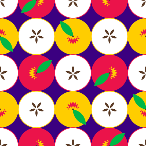 Half Apples fabric by nekineko on Spoonflower - custom fabric
