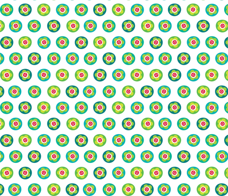 Felt Flower Bubbles fabric by spellstone on Spoonflower - custom fabric