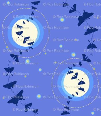 moonlit moth fandango  silhouette