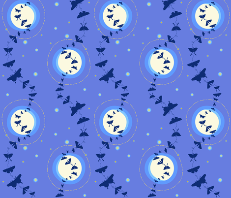moonlit moth fandango  silhouette fabric by coggon_(roz_robinson) on Spoonflower - custom fabric