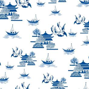 Willow-esque Swallows & Boats