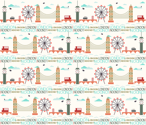 london fabric by bonnitagraphics on Spoonflower - custom fabric