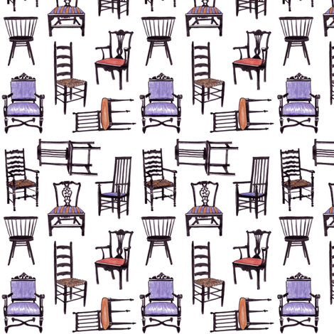 Please Be Seated fabric by dianne_annelli on Spoonflower - custom fabric