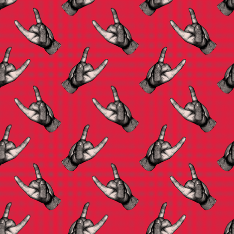 Let`s Rock red! fabric by susiprint on Spoonflower - custom fabric