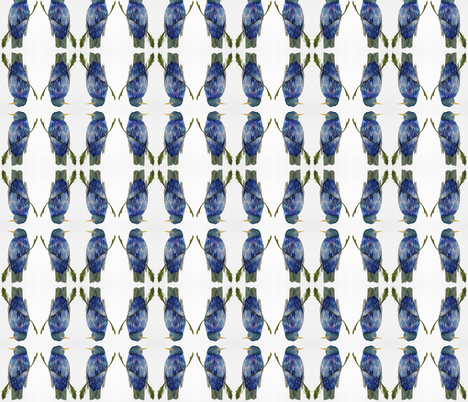 Blue Bird on Branch fabric by betweentheweeds on Spoonflower - custom fabric