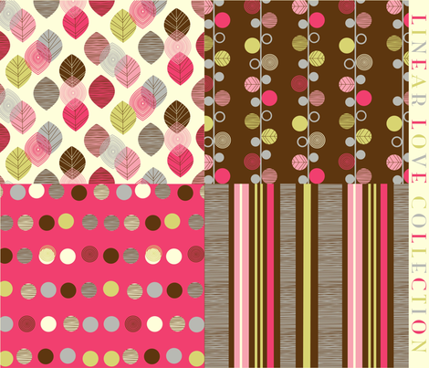 linear love collection fabric by amel24 on Spoonflower - custom fabric