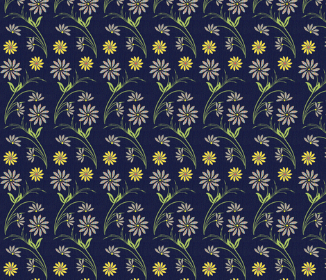 Denim Wildflowers fabric by cksstudio80 on Spoonflower - custom fabric