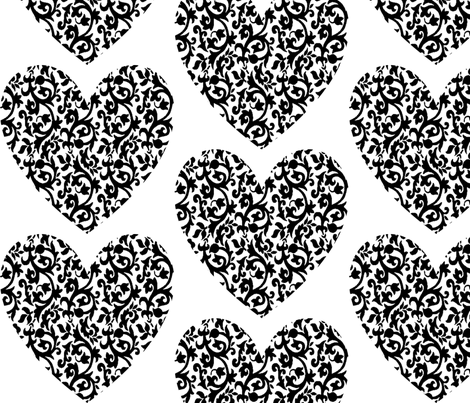 damask_heart fabric by lowa84 on Spoonflower - custom fabric