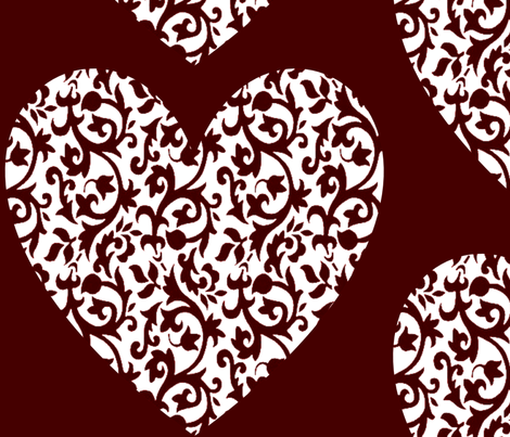 damask_heart_004 fabric by lowa84 on Spoonflower - custom fabric