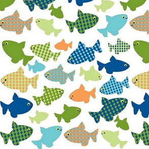 fish-n-fish green, blues, orange