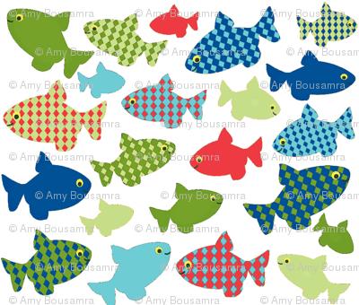 fish-n-fish RED blues-greens