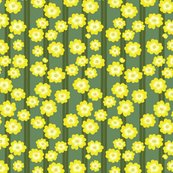 Rbuttercup_bush_double_stripe_scattered_flowers_repeat_green_on_green_shop_thumb