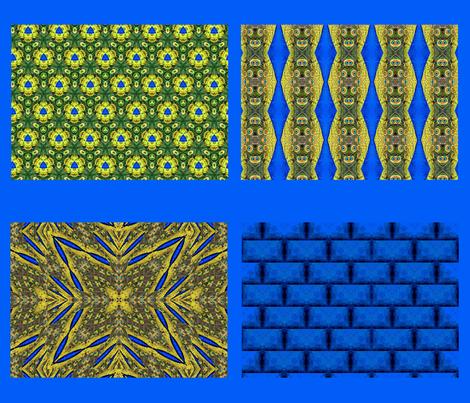 Peacock Pattern Coordinates fabric by artist4god on Spoonflower - custom fabric