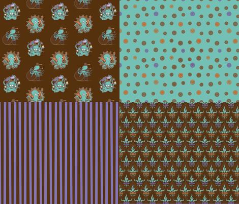 OctoSquid Coordinates fabric by phantomssiren on Spoonflower - custom fabric