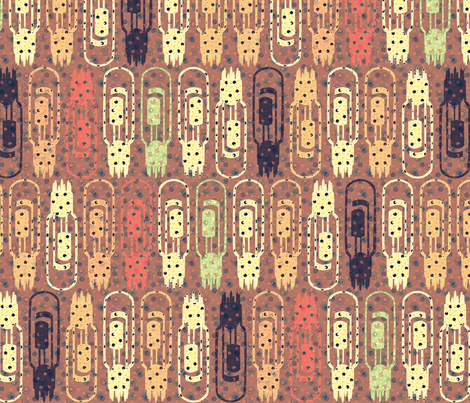Vacuum Tube Golden Forest fabric by glimmericks on Spoonflower - custom fabric
