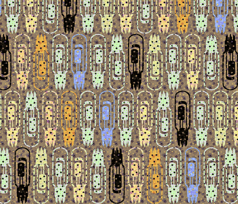 Vacuum Tube Glitter fabric by glimmericks on Spoonflower - custom fabric