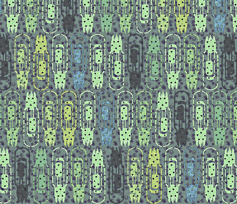 Vacuum Tube Green Tech fabric by glimmericks on Spoonflower - custom fabric