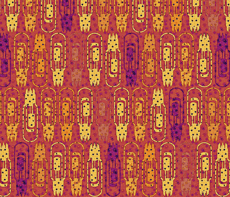 Vacuum Tube Hot Stuff fabric by glimmericks on Spoonflower - custom fabric