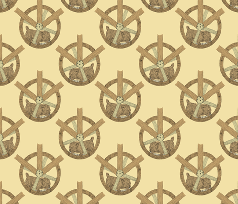 The Turnspits fabric by rusticcorgi on Spoonflower - custom fabric