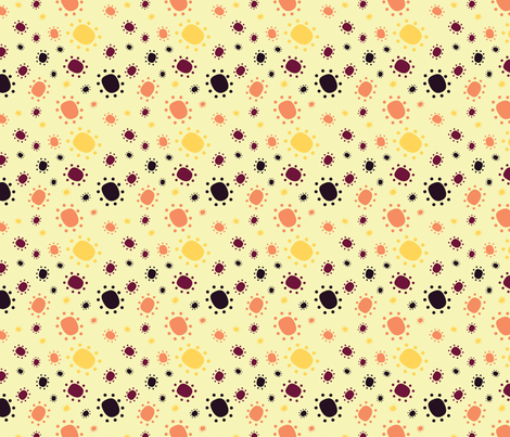 Harlequin Summer Dots - Cream fabric by jubilli on Spoonflower - custom fabric