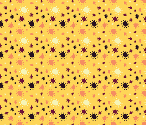 Harlequin Summer Dots - Yellow fabric by jubilli on Spoonflower - custom fabric