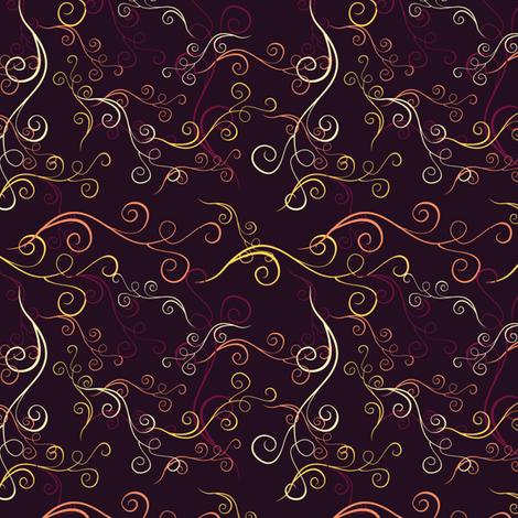 Harlequin Summer Swirls - Purple fabric by jubilli on Spoonflower - custom fabric