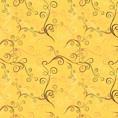 Harlequin Summer Swirlsc - Yellow fabric by jubilli on Spoonflower - custom fabric