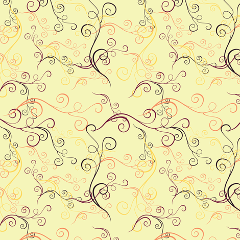 Harlequin Summer Swirls - Cream fabric by jubilli on Spoonflower - custom fabric