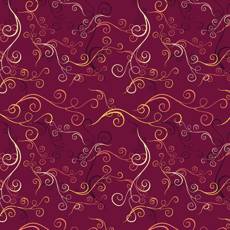 Harlequin Summer Swirls - Fuschia fabric by jubilli on Spoonflower - custom fabric
