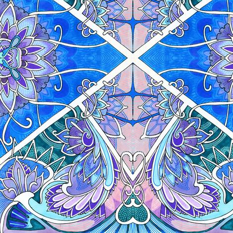 Blue Romance fabric by edsel2084 on Spoonflower - custom fabric