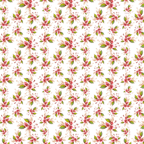 Parson's Roses Coordinate Toss fabric by joanmclemore on Spoonflower - custom fabric