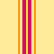 Sand with Fuchsia Stripe