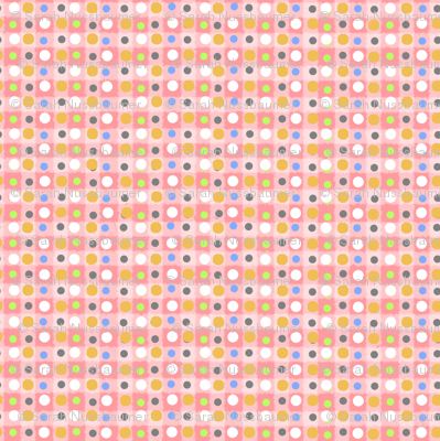 Wood Block Daisy Pink Dot