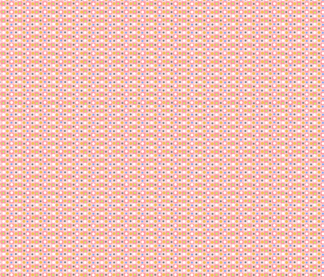 Wood Block Daisy Pink Dot fabric by snuss on Spoonflower - custom fabric