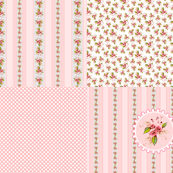 Sateen Roses Coordinate Parson's Pink Fat Quarters