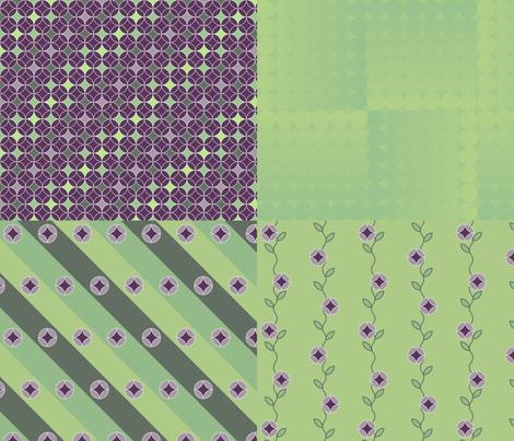 twirls coordinates fabric by greenmyeyes on Spoonflower - custom fabric